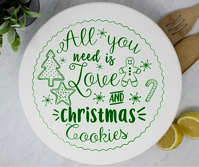 056 ($18) Christmas Cookies - XLarge - Green
