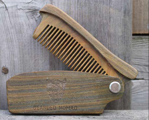 065 ($22) Sandalwood Folding Comb