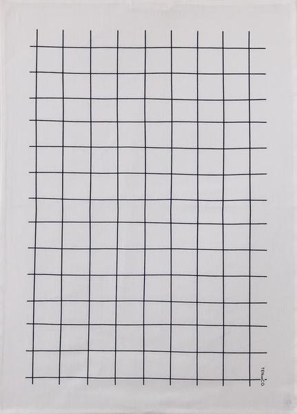 038 ($20) Tea Towel - Grid - Black