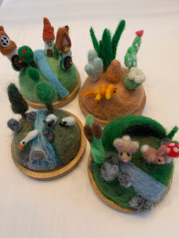 239 ($80) Felted Zenscapes