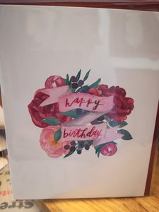 134 ($6) Happy Birthday (Flowers w Ribbon)