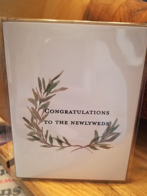 134 ($6) Congrats to the Newlyweds - Card