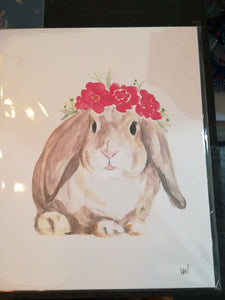 134 ($6) Bunny with Floral - Card