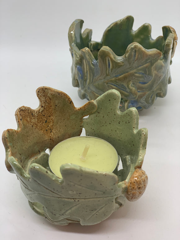 112 ($21) Tealight - Oak Leaf