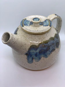 112 ($70) Teapot - Blue and Natural