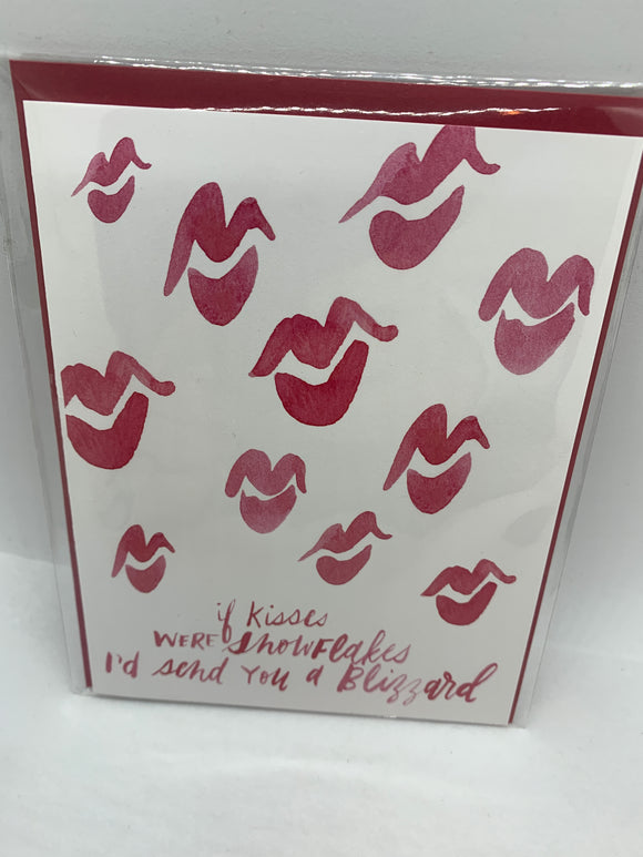134 ($6) If Kisses Were Snowflakes - Card