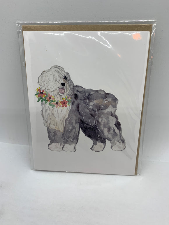 134 ($6) Dog - English Sheepdog - Card