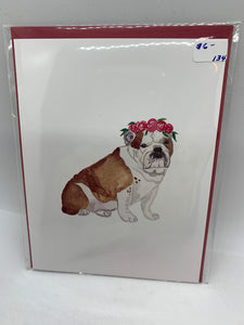 134 ($6) Dog - English Bulldog - Card