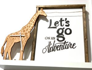 141 ($50) Sign - Let's Go On Adventure