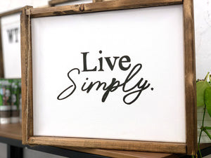 141 ($45) Sign - Live Simply