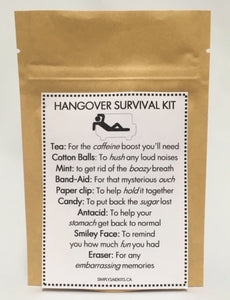 142 ($9) Hangover Survival Kit - Mini