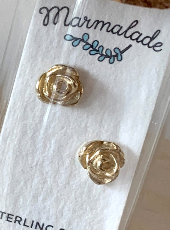 071 ($35) Roses - Bronze Sculpted Studs