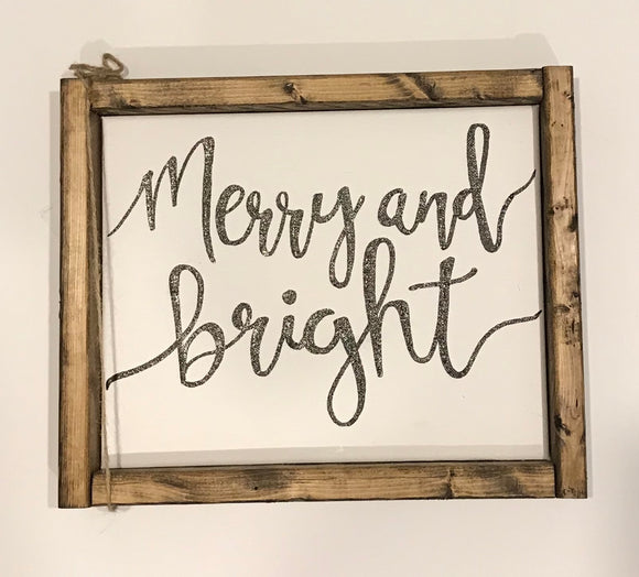141 ($20) Sign - Merry and Bright