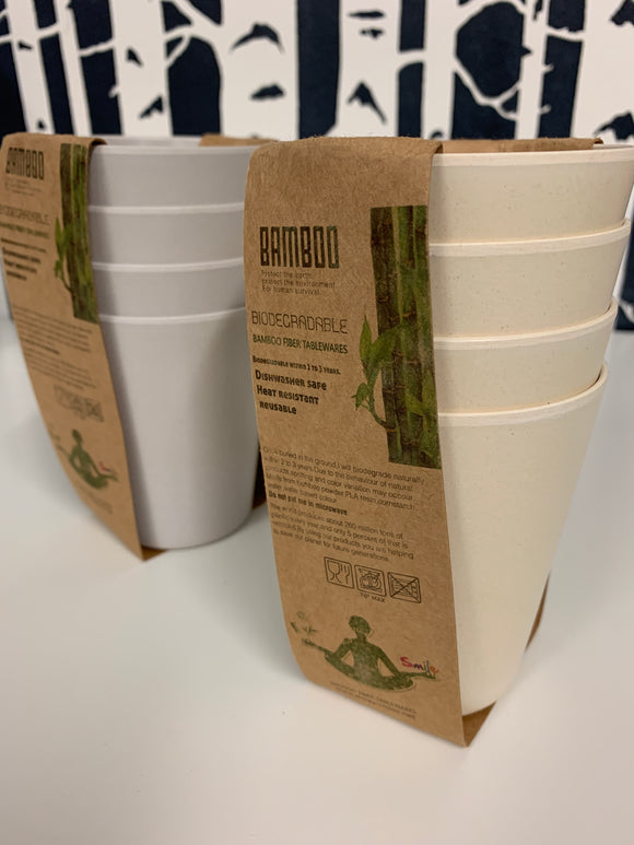 075 ($20) Bamboo Cups - Set of 4