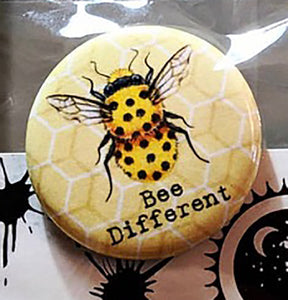 205 ($6) Button - Bee Different