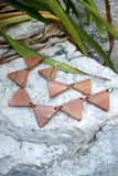 111 ($60) Necklace - Triangle Bib - Reversible
