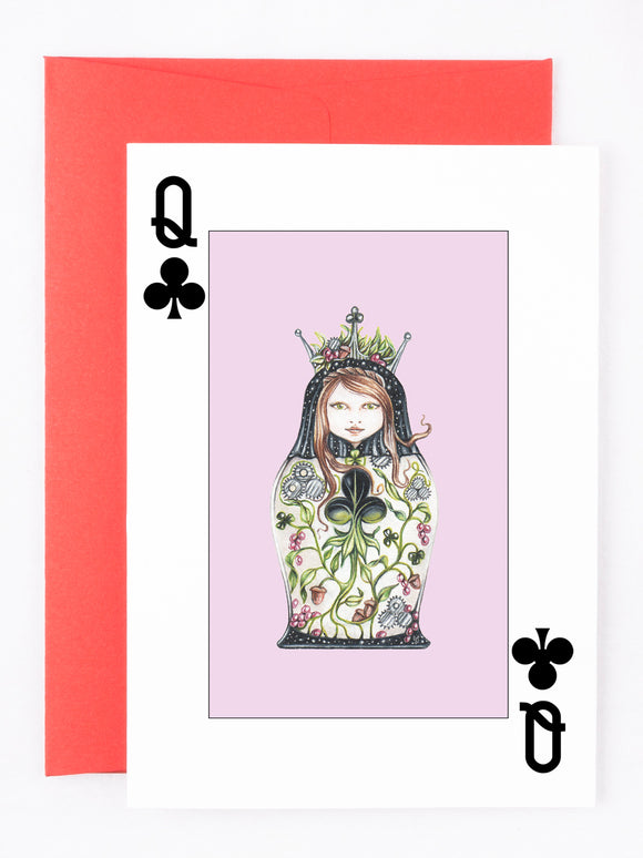 205 ($6) Cards - Queen of Clubs