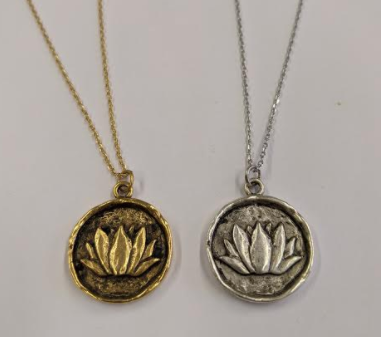 103 ($40) Necklace - Charm - Lotus