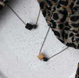 111 ($35) Necklace – Double Wood Beads