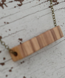 111 ($30) Necklace – Wood Bead - Rectangle