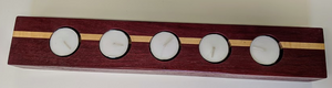 115 ($49) 5 Hole Candle - Purple Heart with Maple Inlay