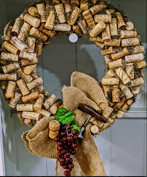 146 ($72.50) Wreath - Quit Your Wining