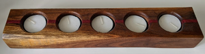 115 ($35) 5 Hole Candle - Black Walnut with Purple Heart