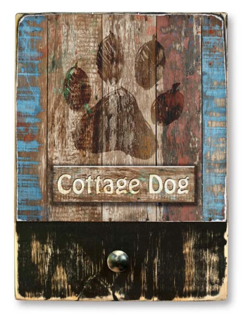 221 ($42.99) Cottage Dog - Single Dog leash hanger.