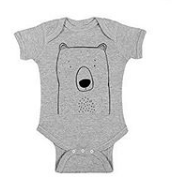 002 ($28) 0-6mths Onesie - Grey