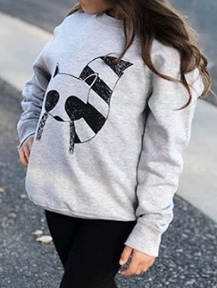 002 ($40) Size 5/6 Kids Sweatshirt - Grey