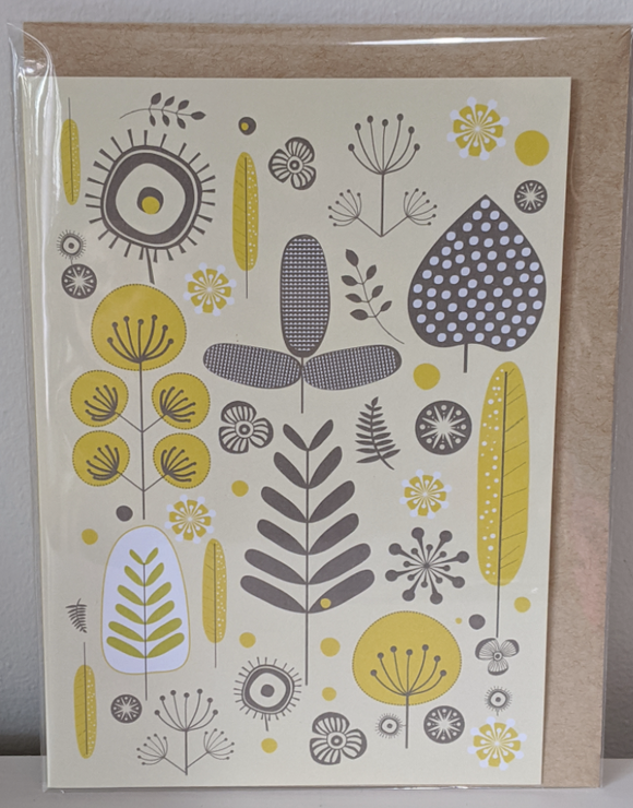 120 ($6) Cards - Yellow Floral