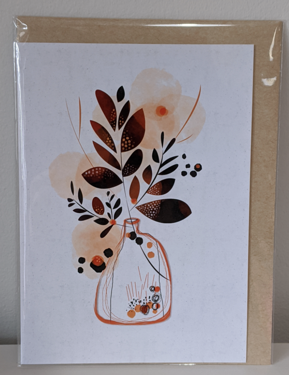 120 ($6) Cards - Flower in Vase