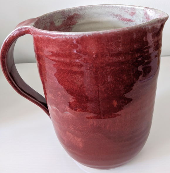 209 ($65) Milk Bag Holder - Red Glaze