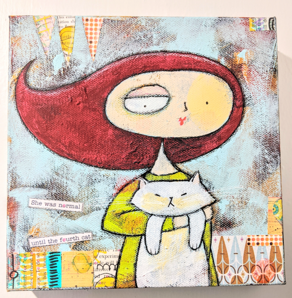 217 ($85) Paintings - Cat Lady