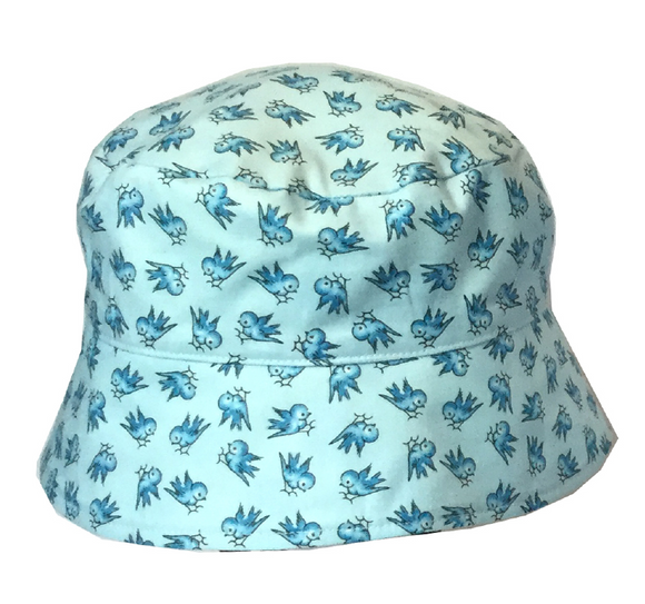 000 ($34) Sun Hat - Blue Birds