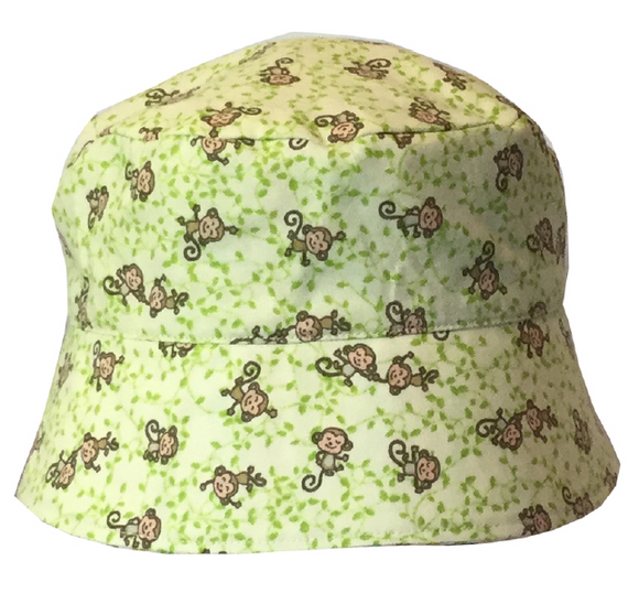000 ($34) Sun Hat - Monkeys on Green