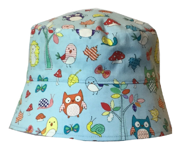 000 ($34) Sun Hat - Forest on Blue