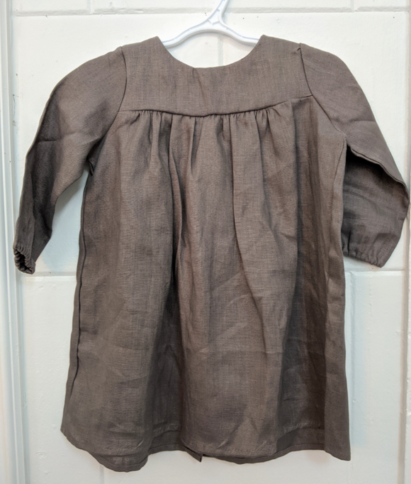 140 ($50) Linen Dresses - Grey - 9-12mths