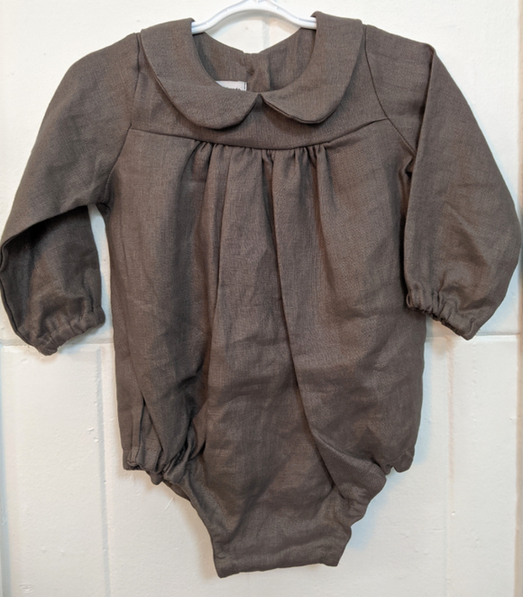 140 ($50) Linen Rompers - Grey - Various Sizes