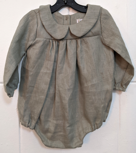 140 ($50) Linen Rompers - Sage - Various Sizes