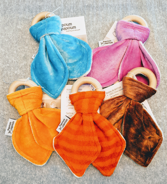 043 ($15) Natural Teething Ring - Various Colours