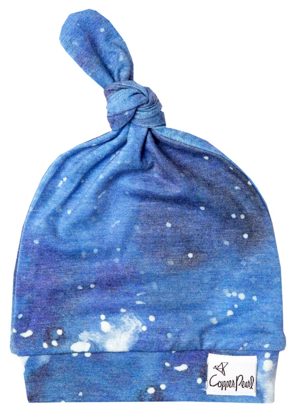 051 ($16) Top Knot Hat - Galaxy