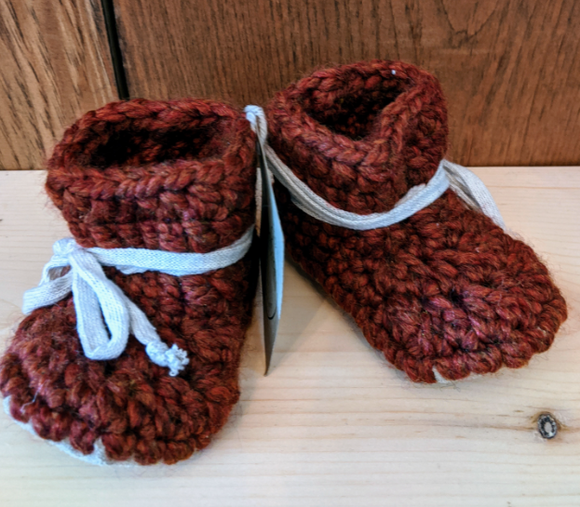 127 ($40) Booties - 0-6 mths