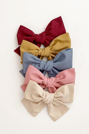 213 ($9) Mini Chunky Schoolgirl Bows - Fall Collection