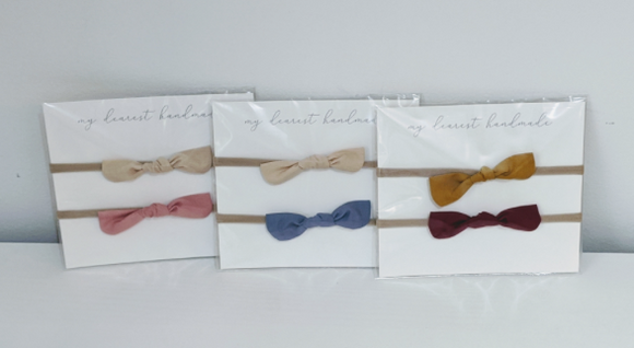 213 ($10) Bunny Knot Set Headbands - Fall Collection