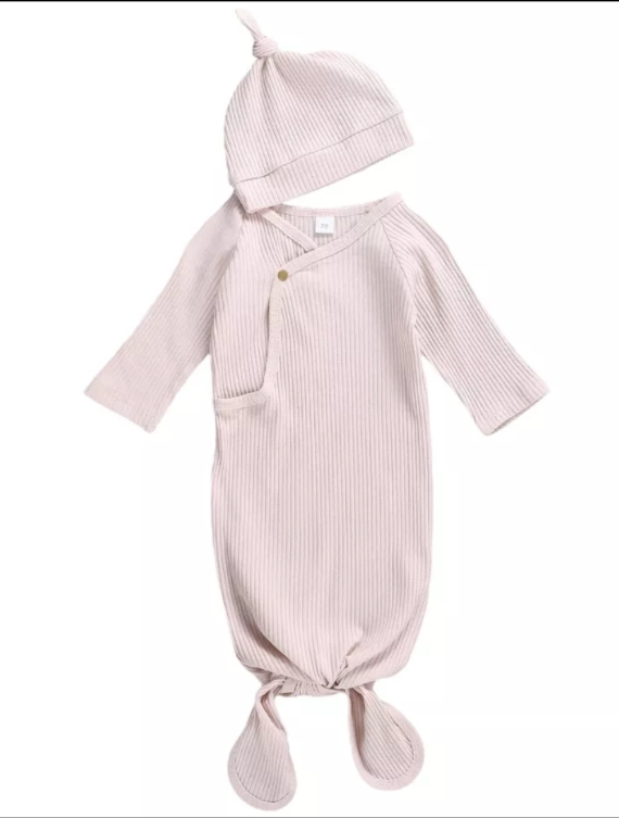 233 ($24) Pink Ribbed Sleep Sac - 3-6mths