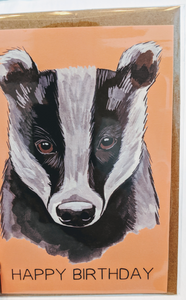 201 ($5) Card - Happy Birthday - Badger