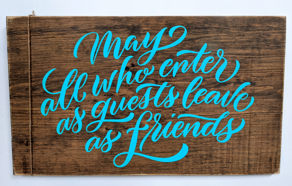 245 ($40) Wood Sign - Friends
