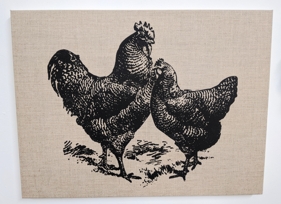245 ($35) Canvas Sign - Large - Roosters