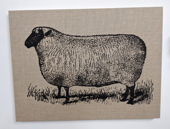 245 ($35) Canvas Sign - Large - Sheep